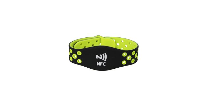 Adjustable Ntag213 Silicone Wristband