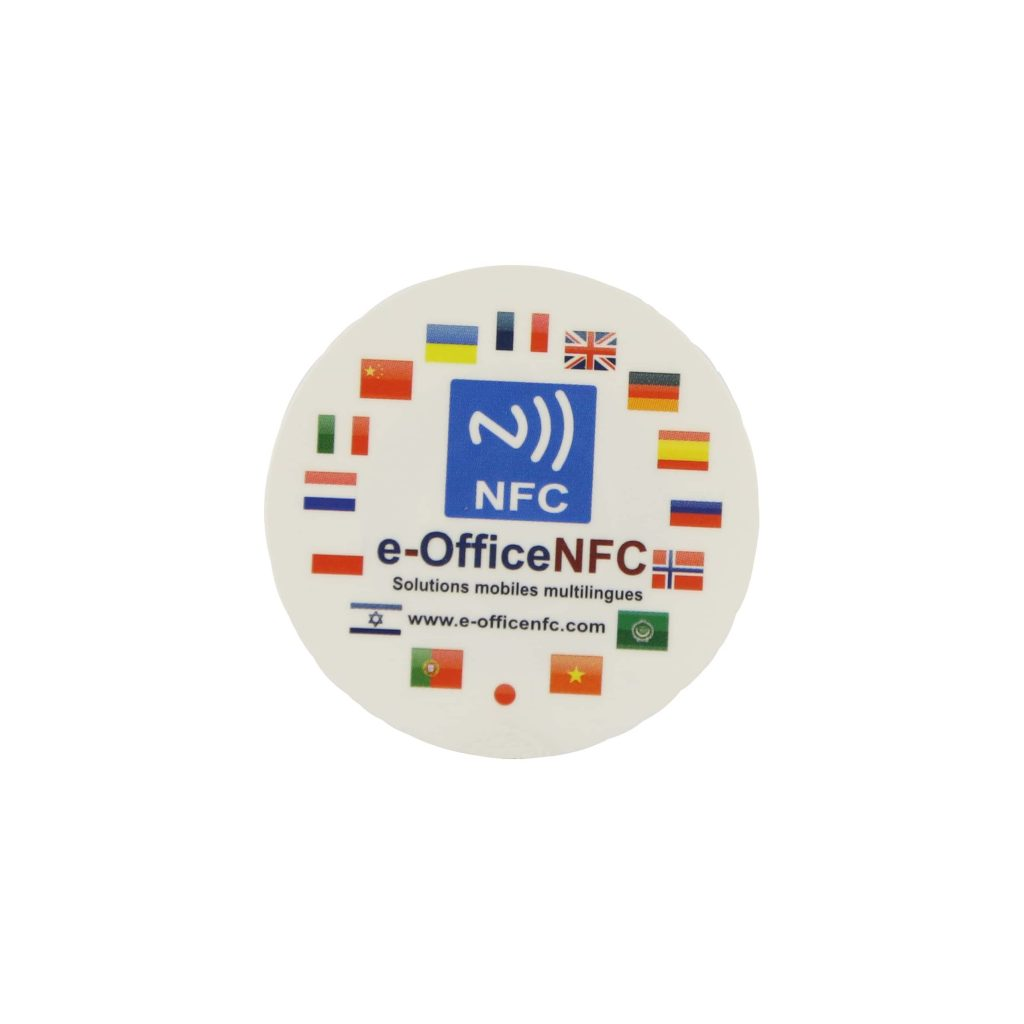 custom nfc stickers with ntag216 chip