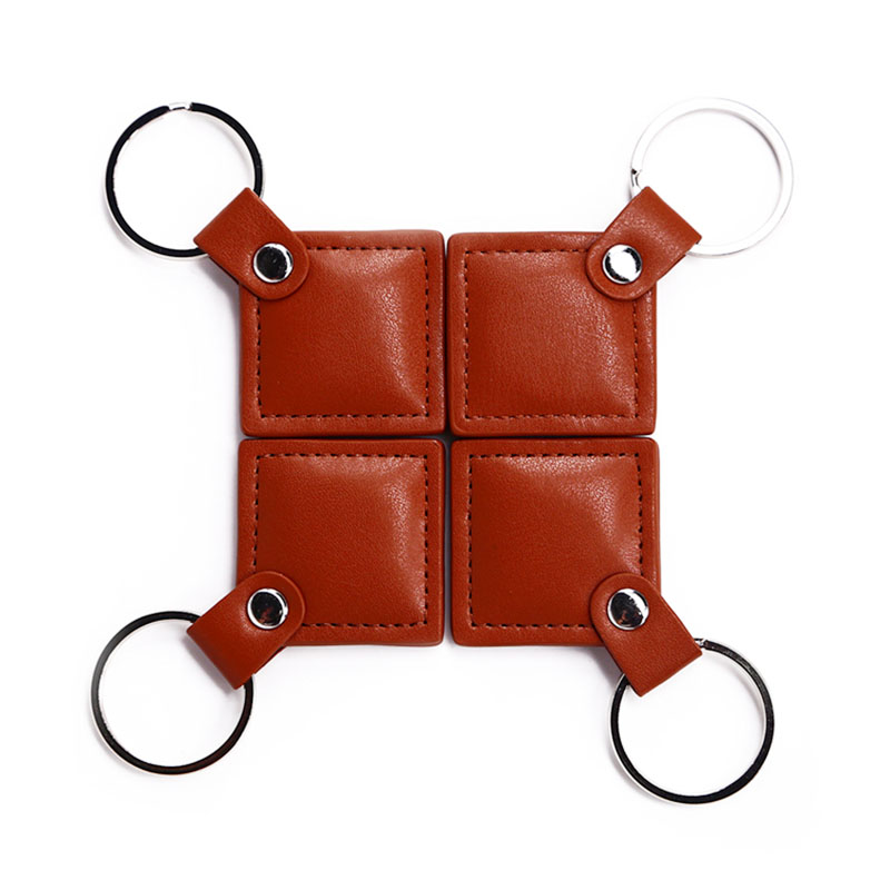 Leather ntag215 keyfob