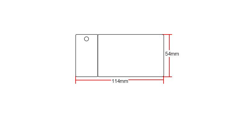 Ntag213 inkjet white card size:54*114