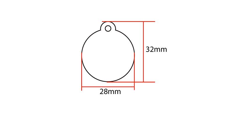 NTAG215 NFC Keyfob size:32*28mm