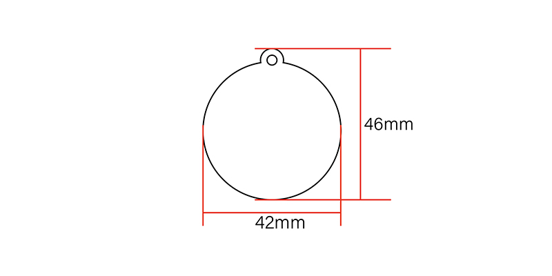 NTAG215 NFC Keyfob size:42*46mm