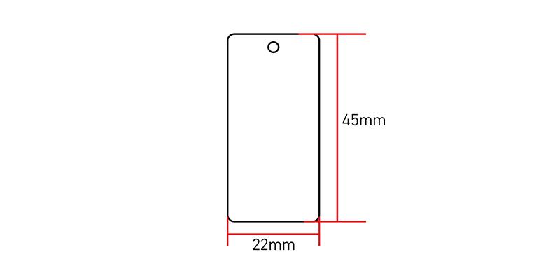 NTAG215 NFC Keyfob size:45*22mm