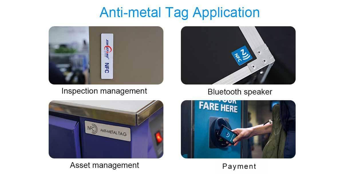 Anti-Metal-Tag-Anwendung