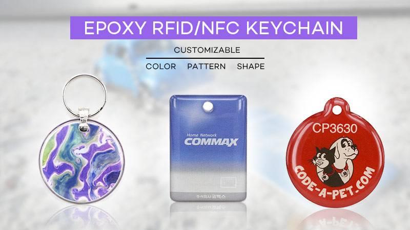 EPOXY RFID keychain