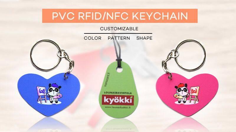 PVC NFC keychain