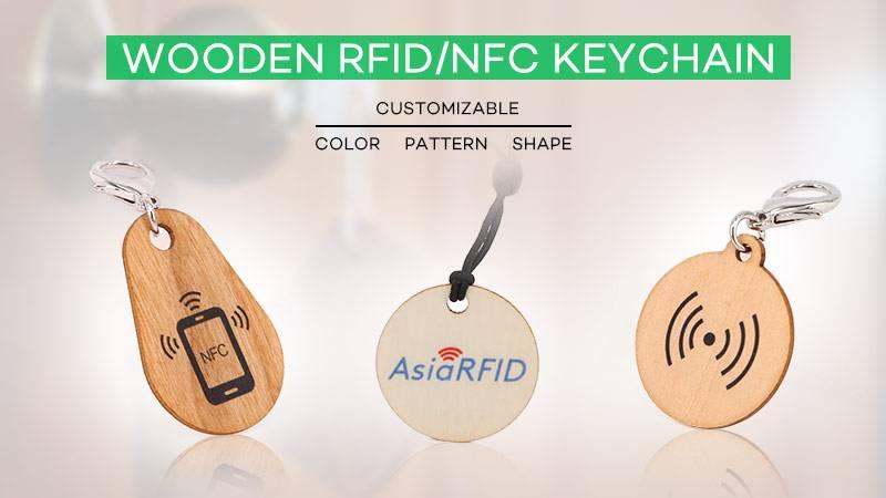 Wood RFID keychain