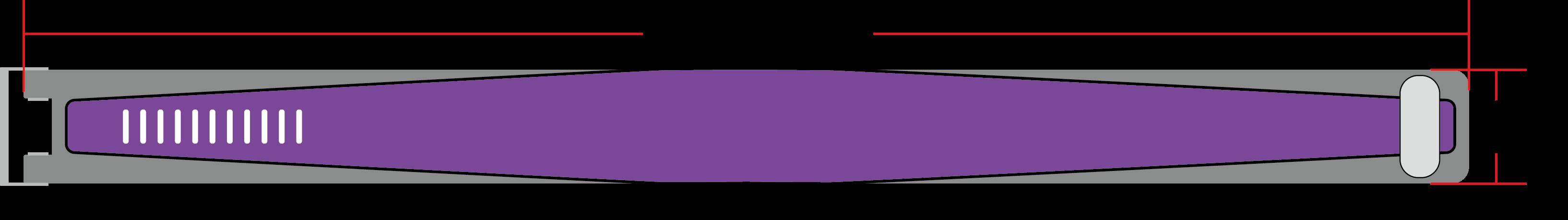rfid wristband size