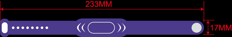 rfid silicone wristband size