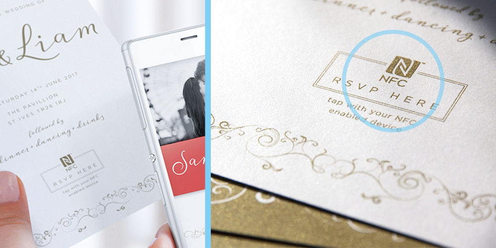 nfc wedding invitation