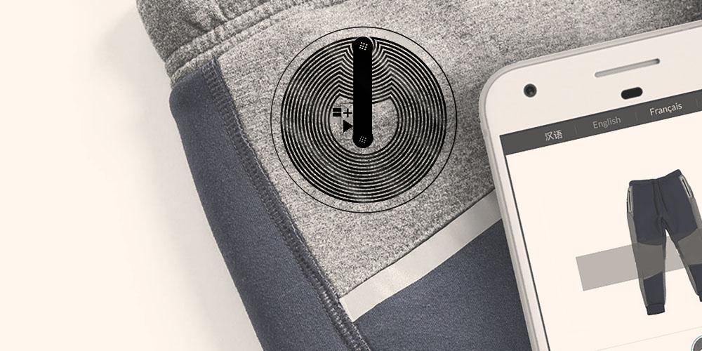NFC-Tag verwendet Tücher