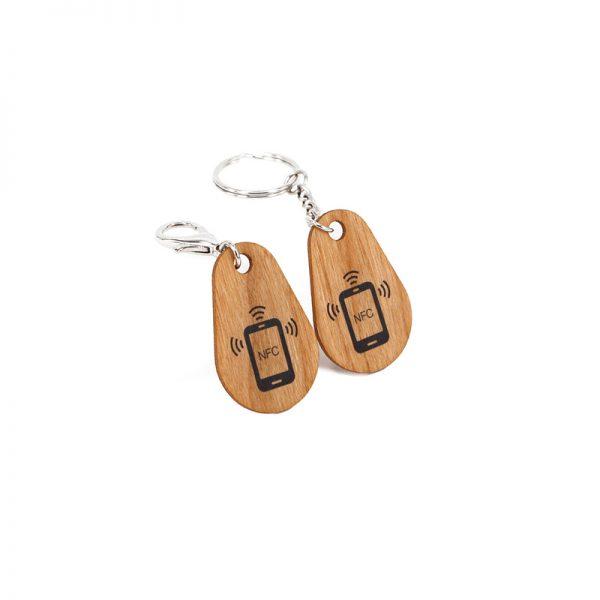 RFID wooden key fob
