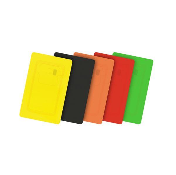 Carte in PVC colorate vuote